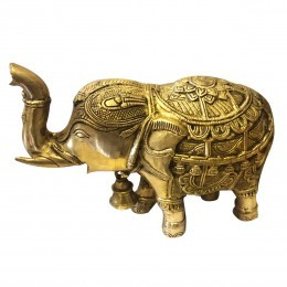 Brass Elephant Idol Size 6 Inch X  10 Inc Weight 3.35Kg
