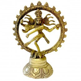 Brass Nataraja Idol Height 5.5 Inc