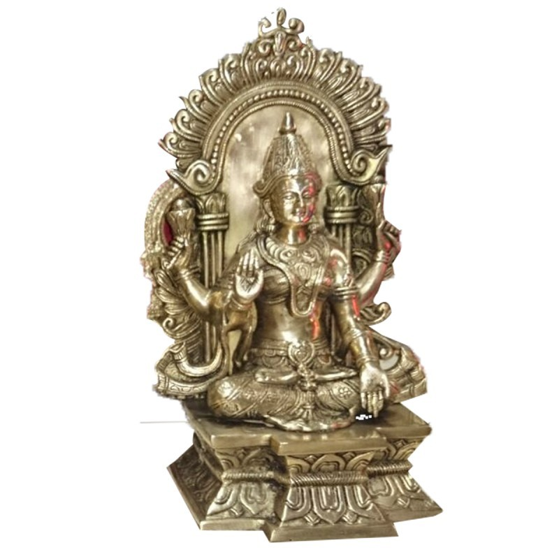 Brass Laxmi Idol 10 inc X 6 Inc